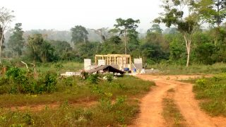 Construction progress concerning building in West Africa.