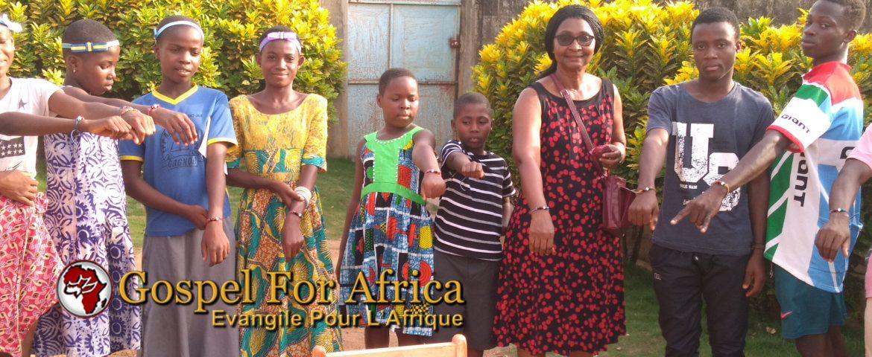 Noelle Jones mentors youth in Gagnoa.